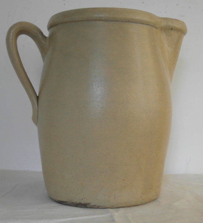 Monumental Yellow Ware Pitcher At 1stdibs