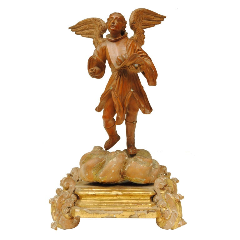 Boxwood carving of a saint at stdibs