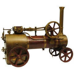 Model steam traction engine
