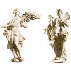 Pair of Marble Angels