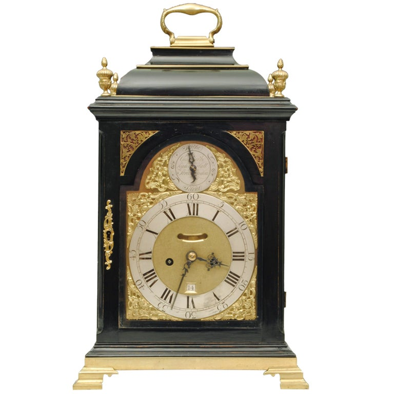 Ebonised Bracket Clock
