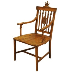 Armchair Made from the Timbers of Nelson's Ship the Foudroyant