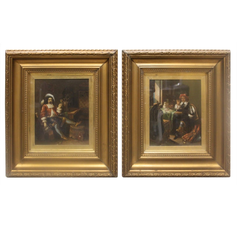 A pair of 19th century dutch interior scenes at 1stdibs Home furniture johnston st