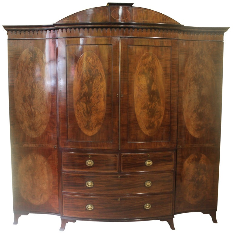 An Edwardian Mahogany Gentlemans Wardrobe At 1stdibs