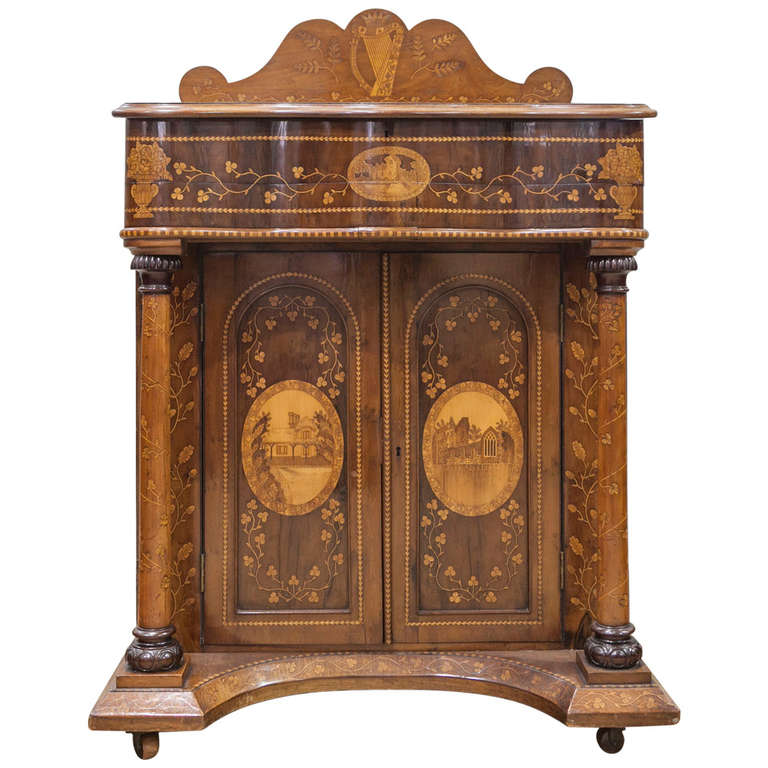 "Antique Leather Sofa Northern Ireland: Very Important Irish ""Killarney Wood"" Desk At 1stdibs"