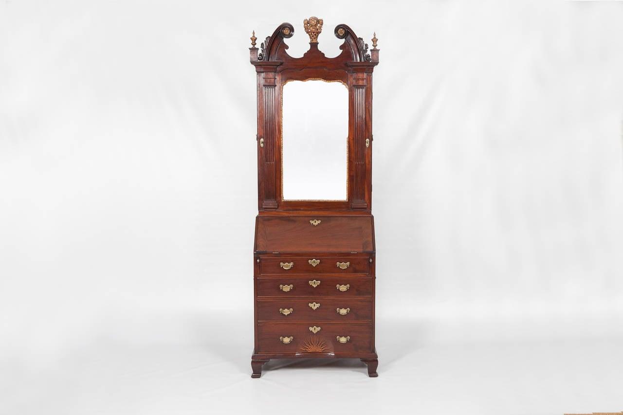 an irish bureau bookcase at 1stdibs. Black Bedroom Furniture Sets. Home Design Ideas