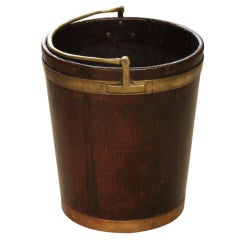 A Georgian Mahogany Peat Bucket