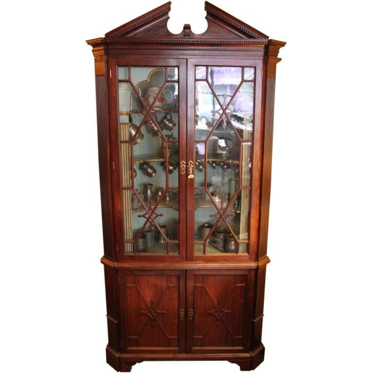 A georgian corner cupboard at 1stdibs Home furniture johnston st