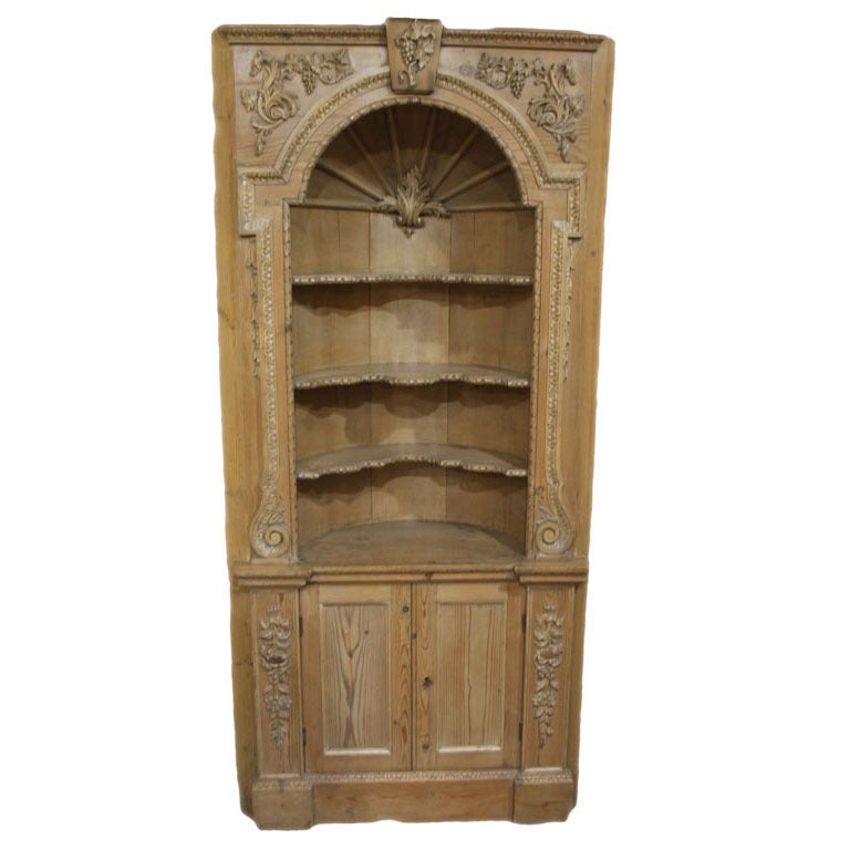 A pine corner cupboard at 1stdibs Home furniture johnston st