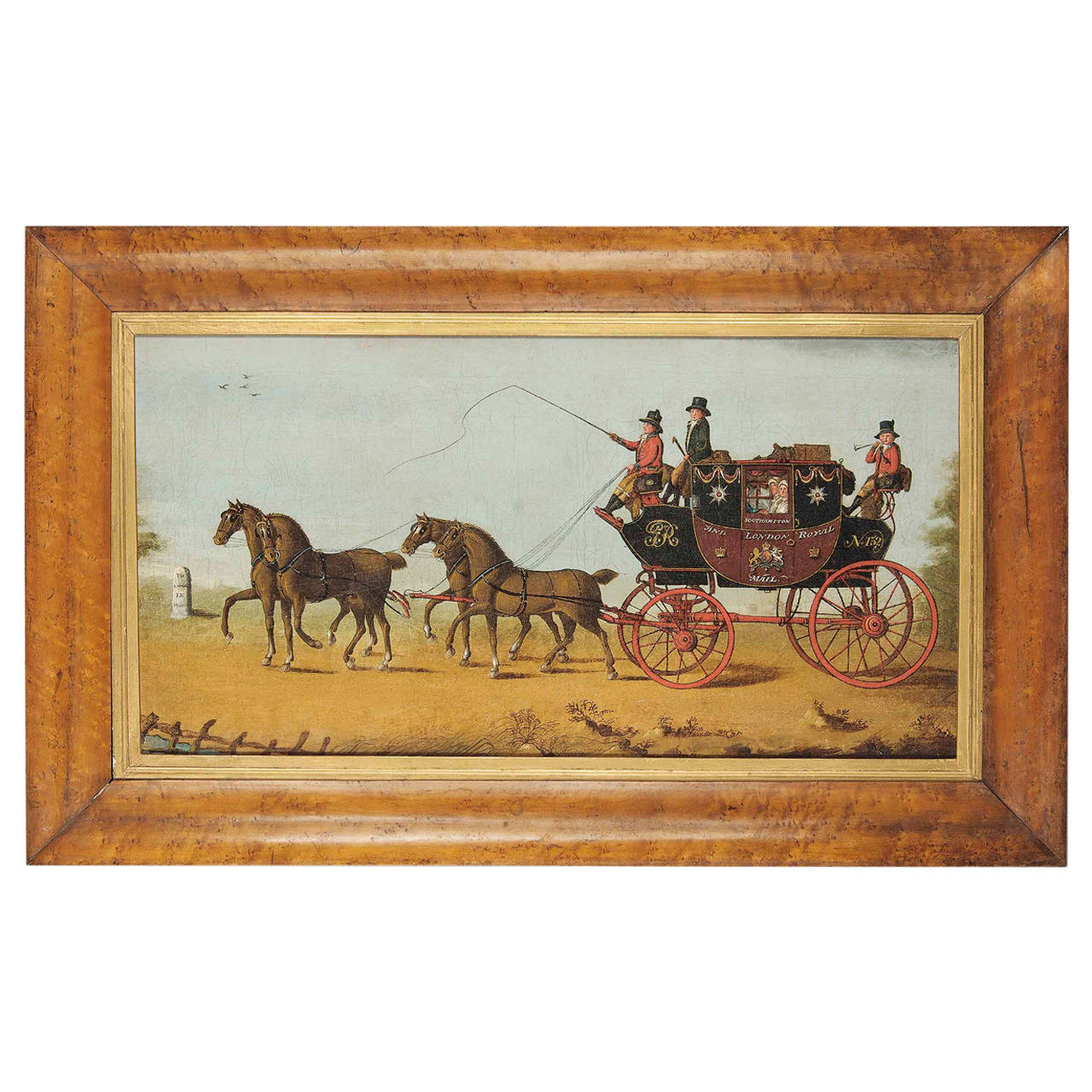 The London To Southampton Mail Coach 19th Century Oil