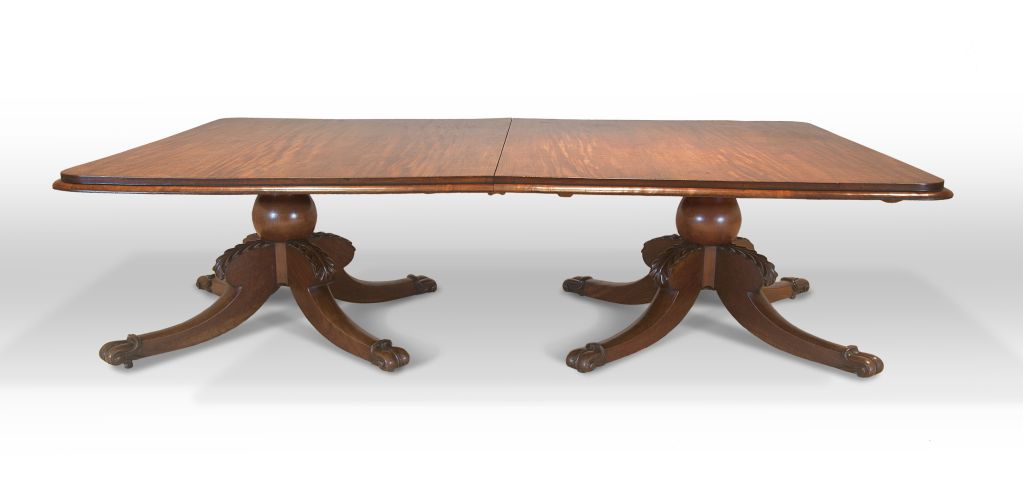 An Irish Mahogany Twin Pedestal Dining Table For Sale At 1stdibs