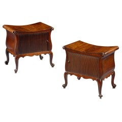 A pair of Mahogany Hall Stools