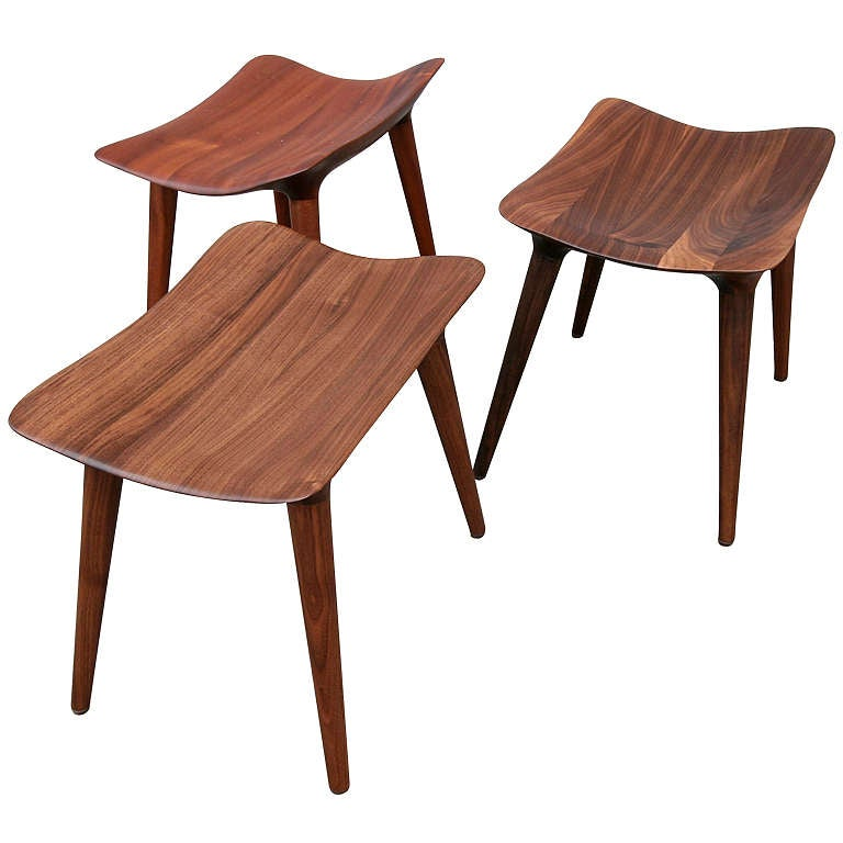 Handmade Wooden Stools At 1stdibs