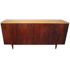 1960's Walnut Credenza in the Style of Paul McCobb