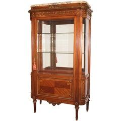 Louis XVI Style Mahogany and Gilt Bronze Display Cabinet
