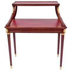 Louis XVI style mahogany tea table, 19th century