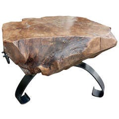 Italian Walnut  Wood Table  by Venetian Artist Gimo Fero