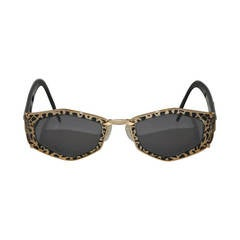 Cazal Gilded Gold Hardware with Leopard Print Sunglasses
