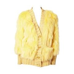 Missoni Dyed Siver Fox Saga Furs Cardigan