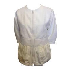 Moncler White Zip Jacket
