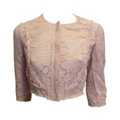 Nina Ricci Peach Lace Jacket