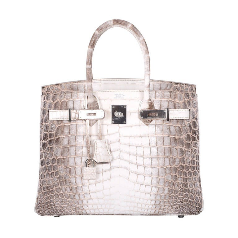 birkin alligator bag price - HERMES BIRKIN BAG 25cm HIMALAYAN WHITE NILO CROCODILE at 1stdibs