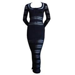 Azzedine Alaia Black Dress AZZEDINE ALAIA jet black