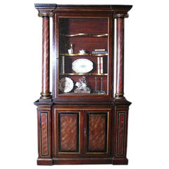 ON SALE Bookcase 19th Century Painted Italian Cabinet  Bibliotheque