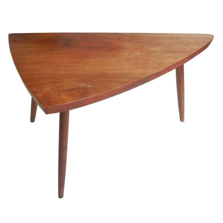 George Nakashima Triangular Cherry Occasional Table