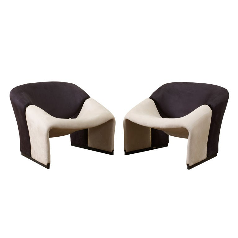 "Pierre Paulin Ribbon Chairs In Missoni Fabric At 1stdibs: Pair Of Pierre Paulin Modernist ""Groovy"" Lounge Chairs At"