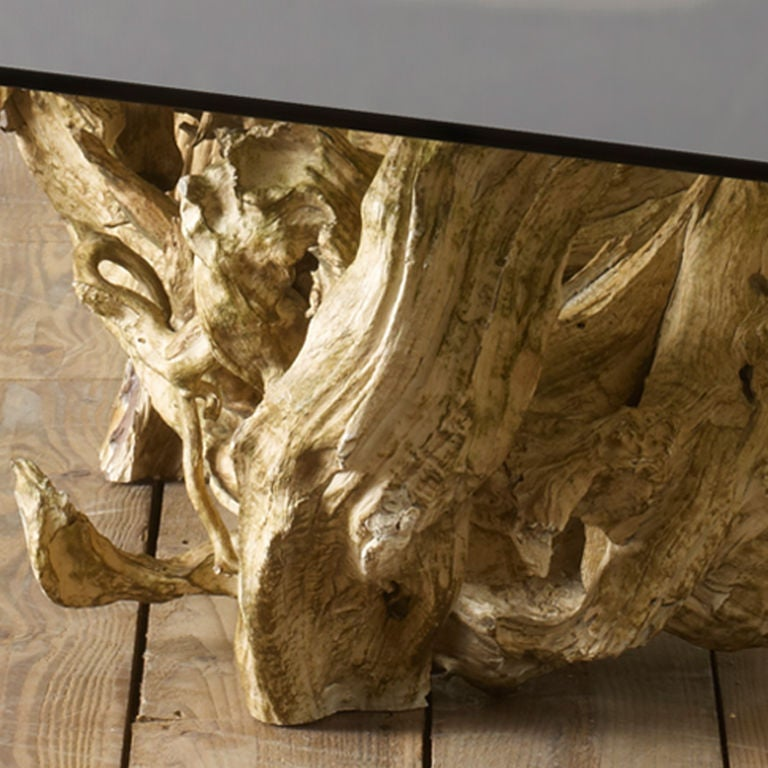 1960's Driftwood Coffee Table At 1stdibs
