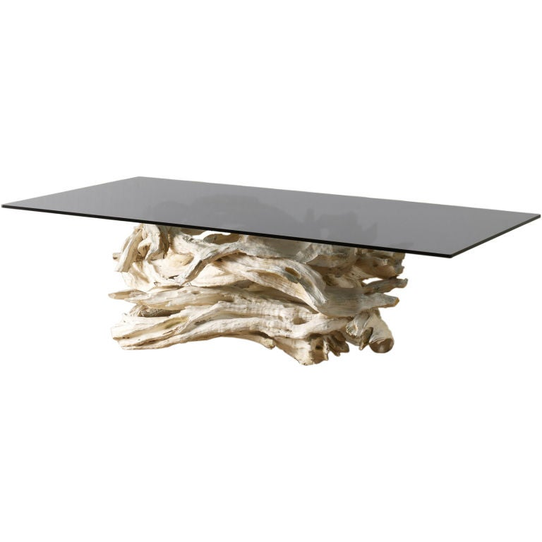 1950 39 s sculptural driftwood table at 1stdibs for White driftwood coffee table