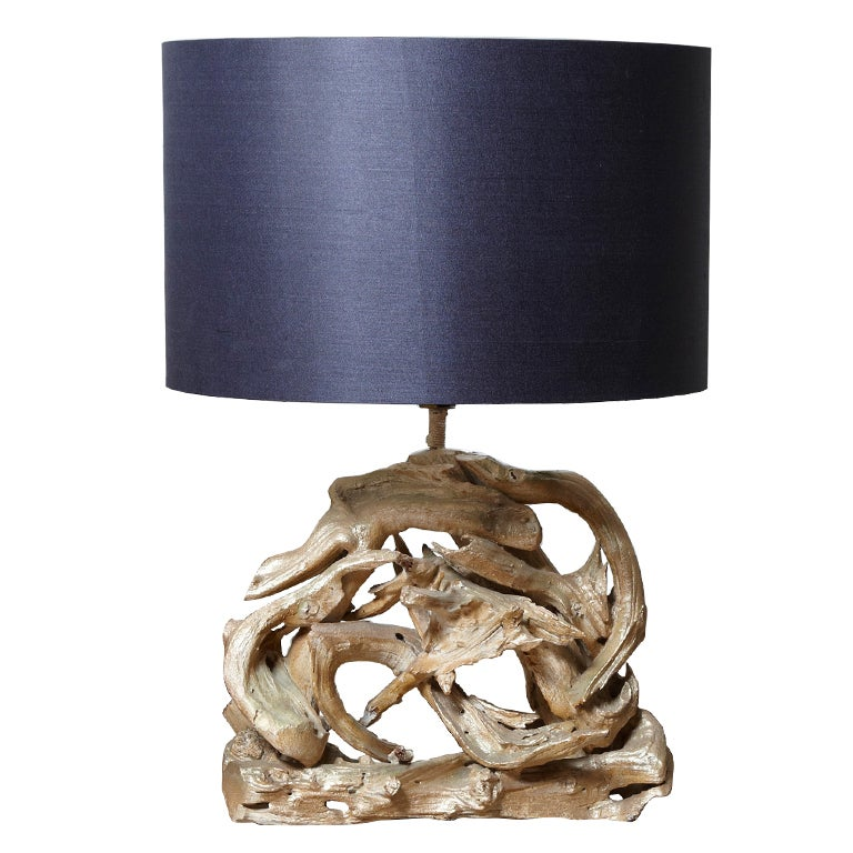 Large Driftwood Lamp At 1stdibs