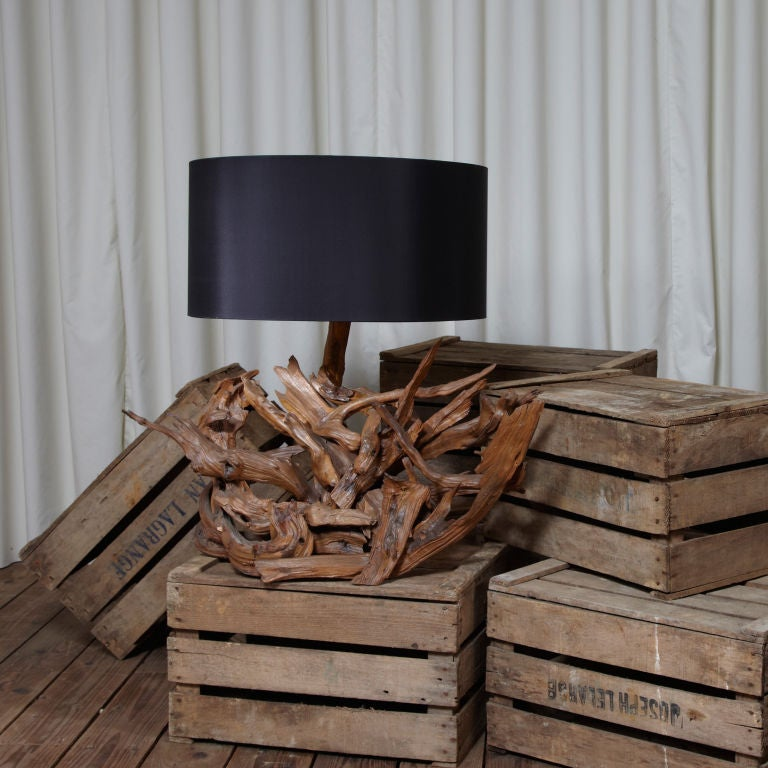 oversized1960 39 s driftwood lamp for sale at 1stdibs. Black Bedroom Furniture Sets. Home Design Ideas