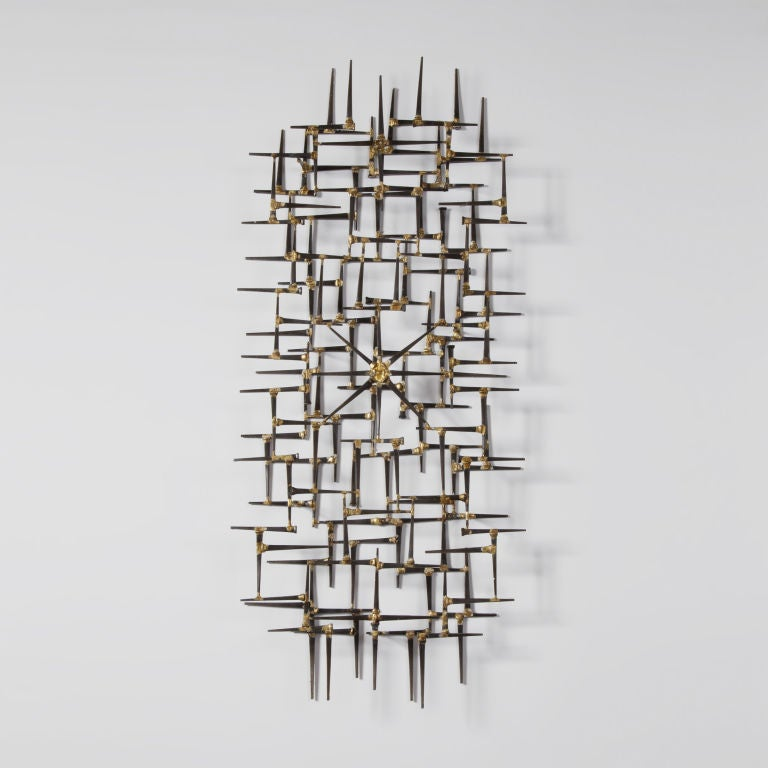 Brutalist Nail Wall Sculpture By Mark Weinstein image 2