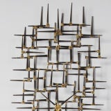 Brutalist Nail Wall Sculpture By Mark Weinstein image 3