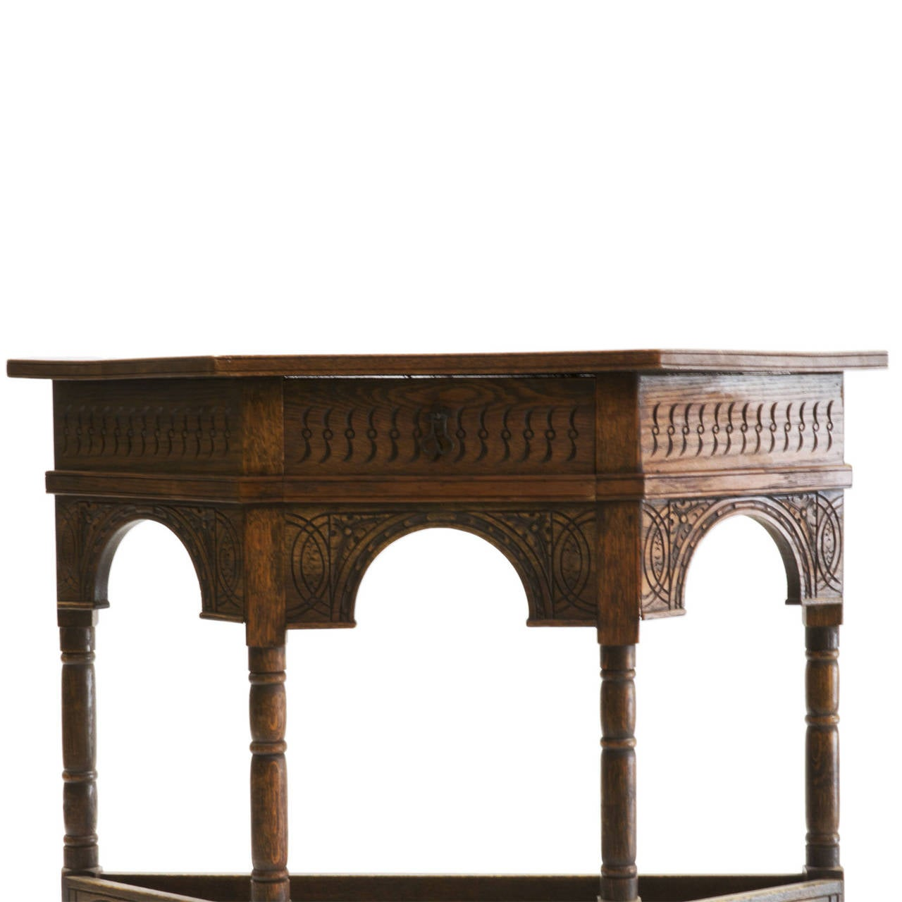 1920s English Lancashire Shaped Console At 1stdibs
