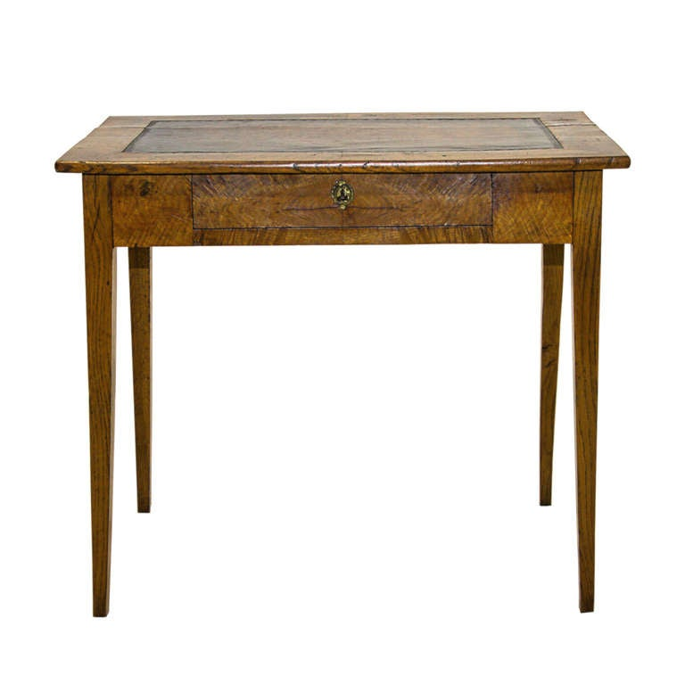 19th century country french elm writing table at 1stdibs for Table insert th