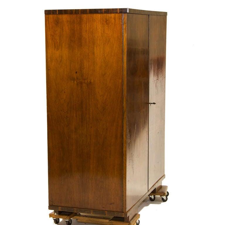 vintage art deco two door armoire at 1stdibs. Black Bedroom Furniture Sets. Home Design Ideas