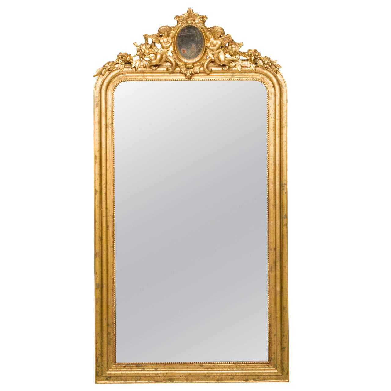Louis philippe style antique mirror for sale at 1stdibs for Antique style wall mirror