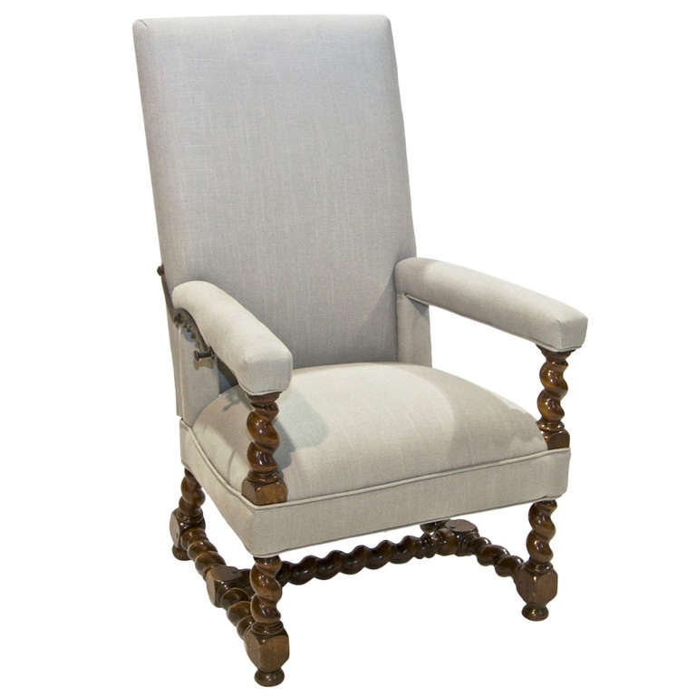 18th Century Louis XIV  Armchair with Reclining Back