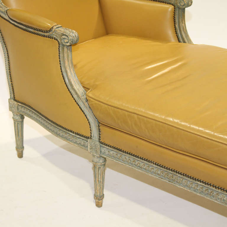 louis xvi painted chaise longue chair at 1stdibs