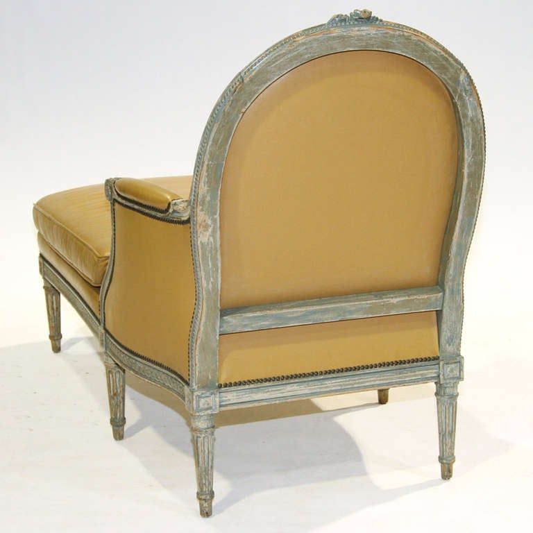 Louis xvi painted chaise longue chair at 1stdibs - Chaise louis xvi pas cher ...