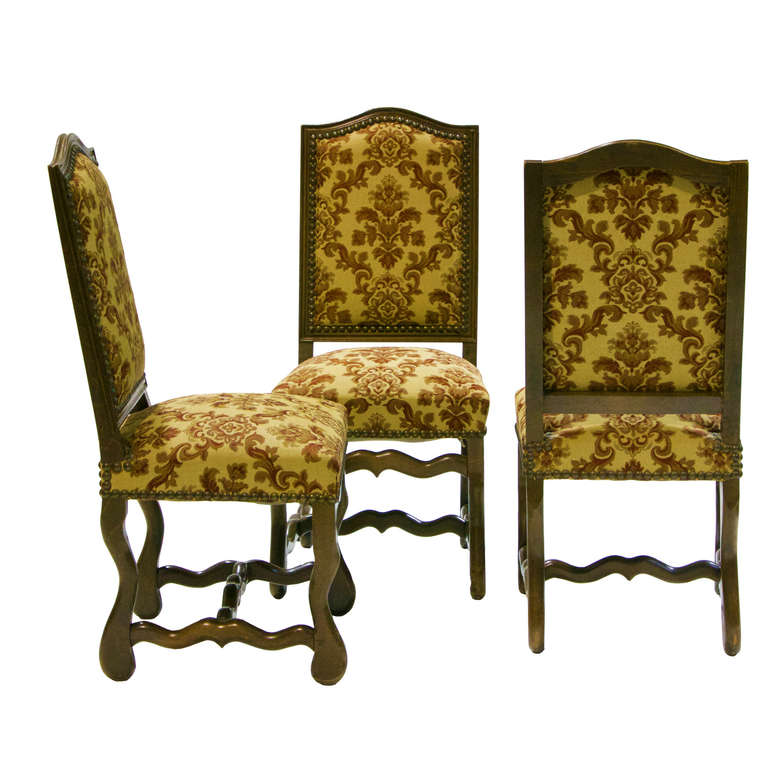 Set Of 6 Louis Xiv Style Os De Mouton Dining Chairs At 1stdibs