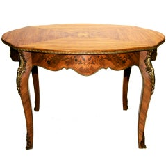 Louis XV Marquetry Center Table