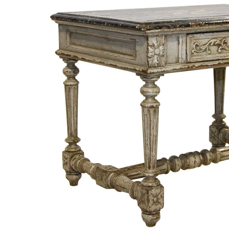 Antique Louis XIV Writing Table - Inessa Stewart's Antiques
