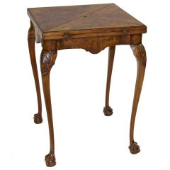 A Charming Chippendale Style Envelope Game Table
