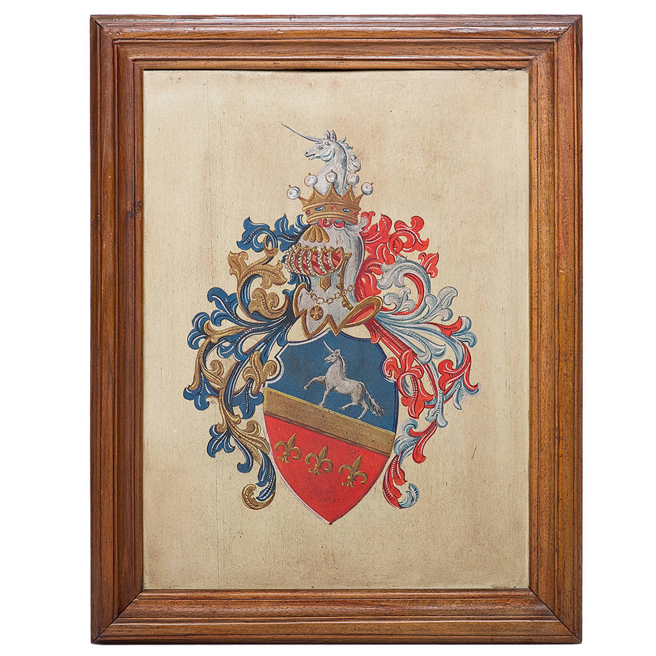 Heraldry Painting Of A Coat Of Arms On Board At 1stdibs