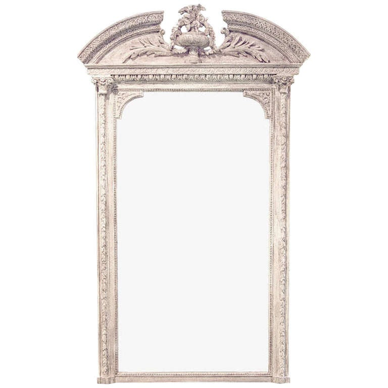 A 19th Century French Renaissance Painted Wall Mirror