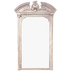 19th Century French Painted Wall Mirror